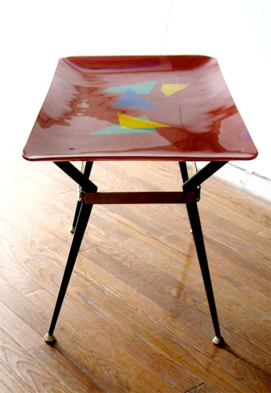 Italian Glass Top Coffee Occaisional Table 1950 39 S At 1stdibs