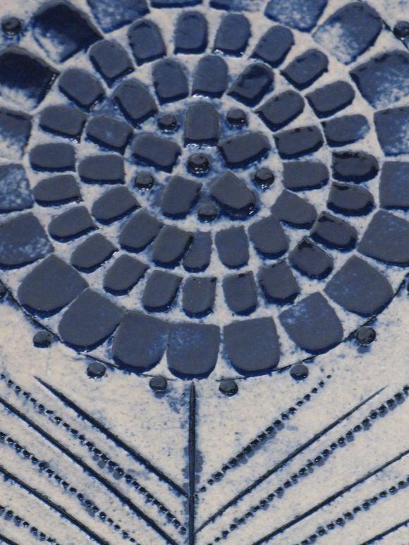 Blue Glazed Ceramic Vase by Roger Capron For Sale 1