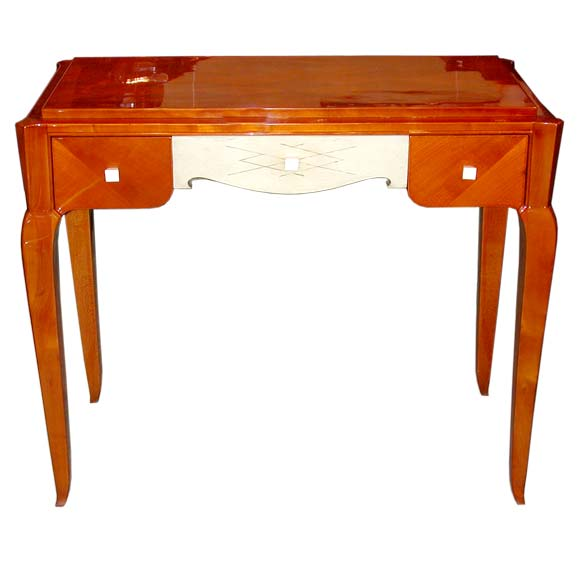Small varnished cherry wood dressing table at 1stdibs for Thin dressing table