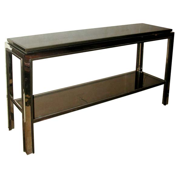 Two tier 70 39 s console table at 1stdibs for Sofa table 70