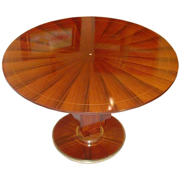 Round Layered Stand Palissandre Gueridon at 1stdibs -> Table Tele Palissandre