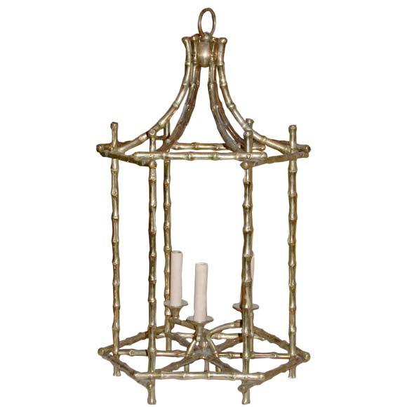 Bamboo Ceiling Light Homebase : Bagu?s bronze bamboo lantern ceiling light at stdibs