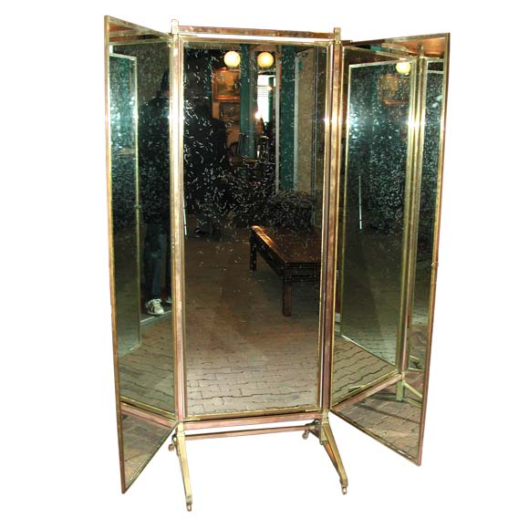 Full Length Three Way Rolling Mirror For Sale At 1stdibs