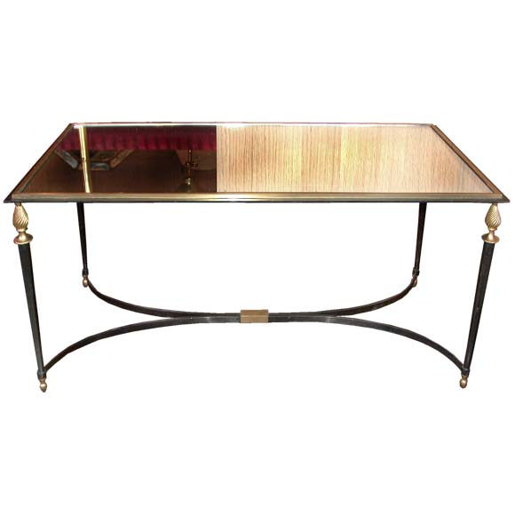 Canon and gilt brass framed coffee table at stdibs