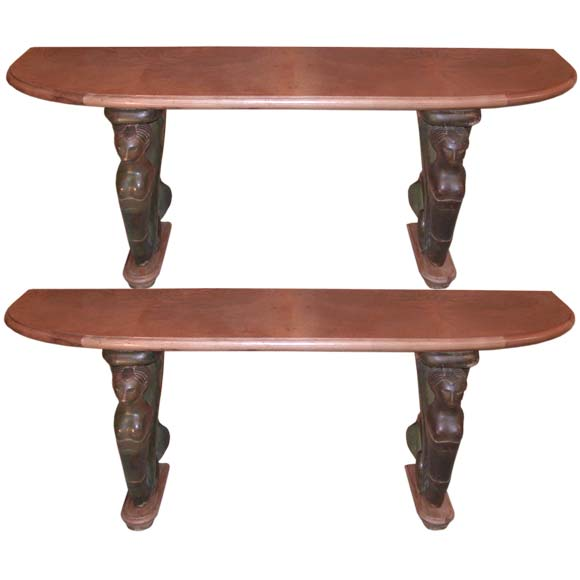 Pair of mermaid foot wall consoles at 1stdibs Mermaid coffee table