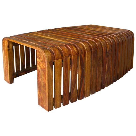 50 39 S Slatted Wood Coffee Table At 1stdibs