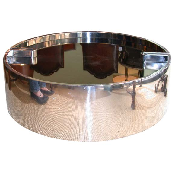 Round Chrome Coffee Table At 1stdibs