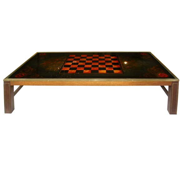 70 39 S Eglomis Chess Game Coffee Table At 1stdibs
