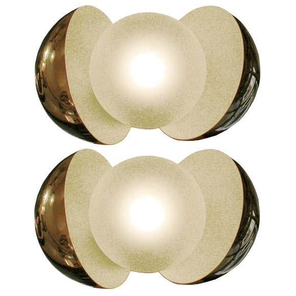Chrome Ball Wall Lights : A Pair Of Chrome Ball Fontana Arte Wall Light Appliques at 1stdibs