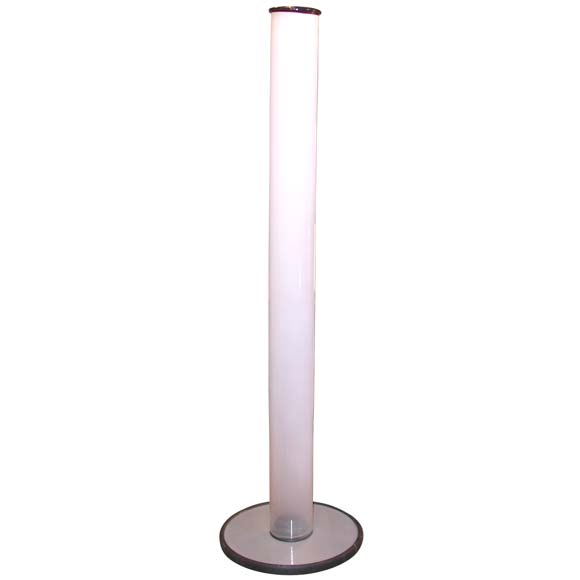 Opalescent Glass Cylinder Floor Lamp At 1stdibs