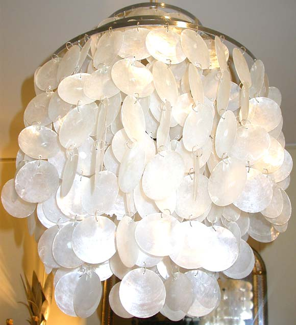 Mother Of Pearl Ceiling Light By Verner Panton At 1stdibs