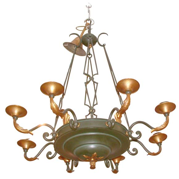 Eight Branch Neoclassical Ceiling Light At 1stdibs