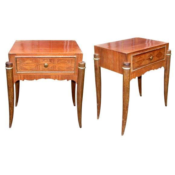 Pair of Palissandre End Tables at 1stdibs -> Table Tele Palissandre