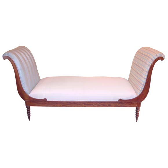 Neo Classical Spinning Top Foot Banquette At 1stdibs