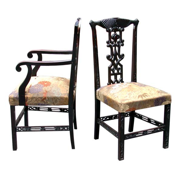 set of four british colonial style chairs at 1stdibs