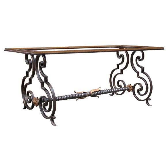 Wrought iron coffee table base at 1stdibs Wrought iron coffee table bases