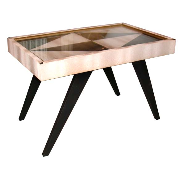 small black and white coffee table at 1stdibs