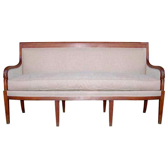 Walnut directoire style canap at 1stdibs for Canape directoire