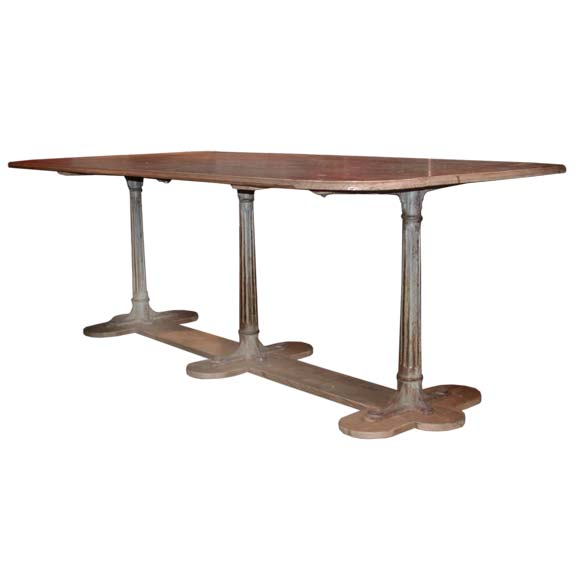 Long Proven Al Pine Wood Table At 1stdibs