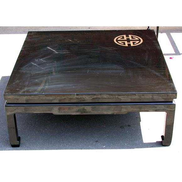 Japanese Style Black Lacquer Coffee Table At 1stdibs