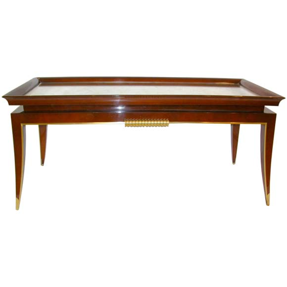Lacquered Wood Coffee Table By L On Jallot At 1stdibs