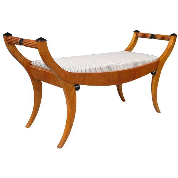 Biedermeier Style Saber Leg Bench At 1stdibs