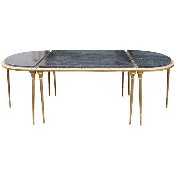 Marble Coffee Table Adelaide: Three Piece Bronze And Marble Coffee Table At 1stdibs