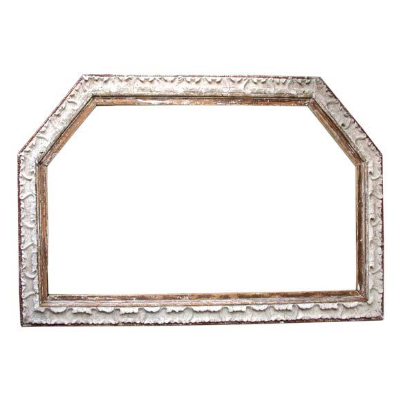 Stucco On Frame : Giant wood and shell stucco frame at stdibs