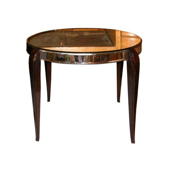 Round Mirrored Coffee Table At 1stdibs