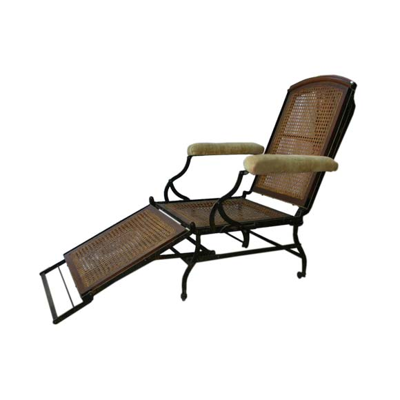 Large 19th century reclining lounge chair at 1stdibs for Bernard chaise lounge