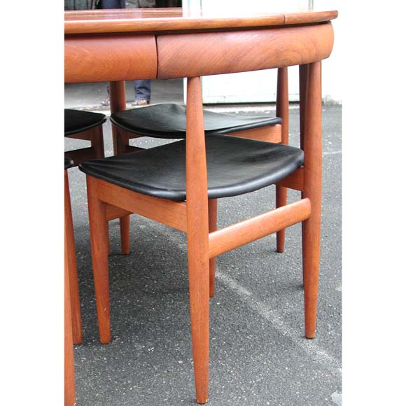 Danish nesting chairs and dining table at stdibs