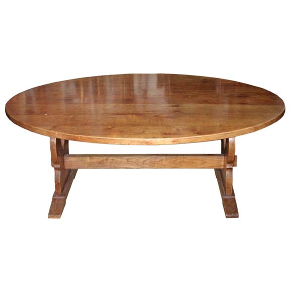 Oval Cherry Wood Dining Table At 1stdibs