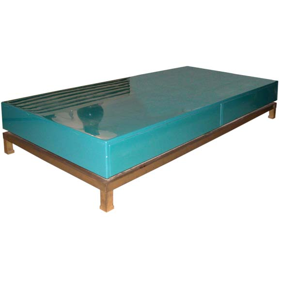 Turquoise Lacquer Coffee Table At 1stdibs