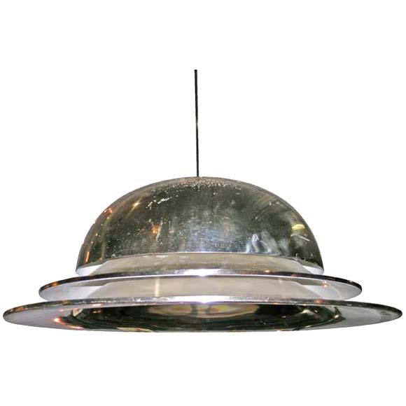 Fontana Arte Tiered Dome Saucer Ceiling Light At 1stdibs