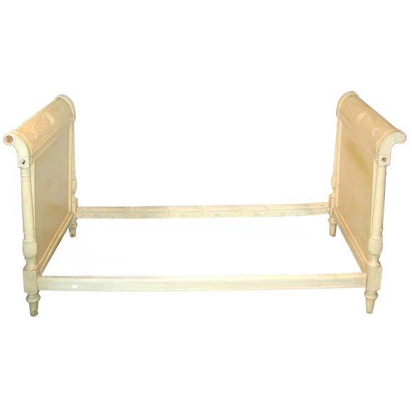 Yellow Patina Directiore Bed Frame At 1stdibs