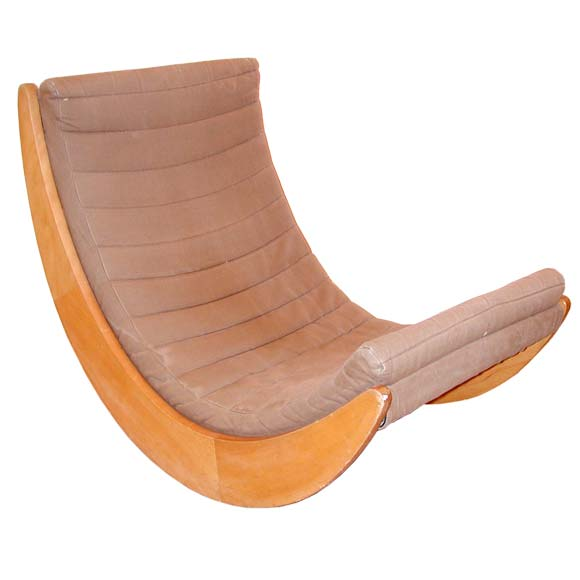 verner panton moon rocking chair at 1stdibs