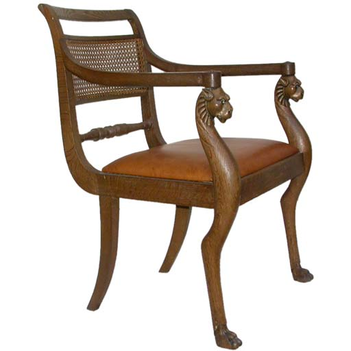 Egyptian Furniture: Neo Egyptian Style Desk Chair At 1stdibs