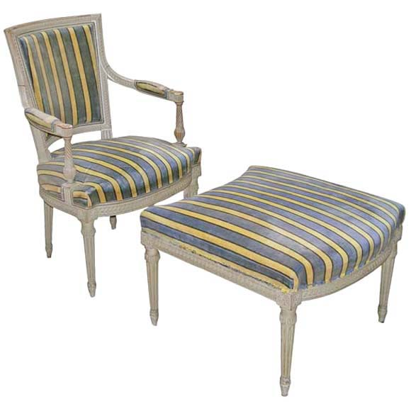 Louis xvi style berg re bris e at 1stdibs for Chaise interiors inc