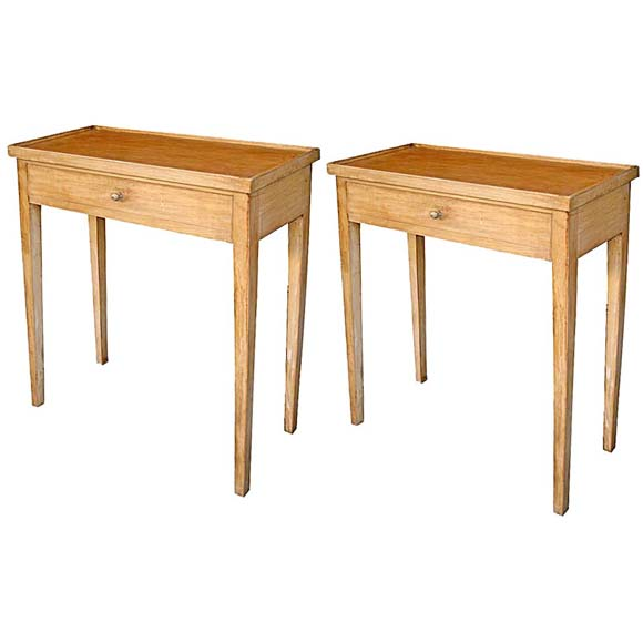 Pair of tall narrow end tables at 1stdibs for Tall slim side table
