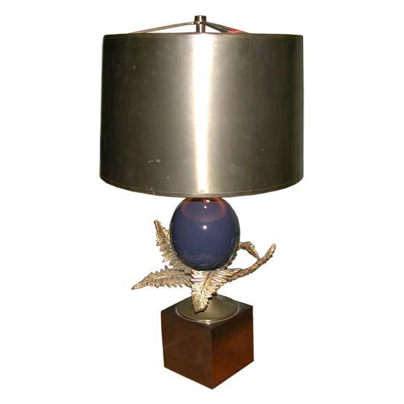 Charles et fils bronze fern table lamp at 1stdibs for Table franco et fils