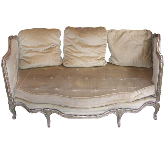 louis xv style green convertible banquette at 1stdibs