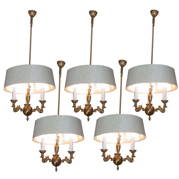 Set Of Five Swan Branches Ceiling Lights At 1stdibs