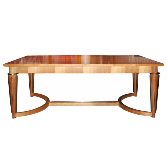 Cherry Wood And Metal Dining Table By Maxime Old At 1stdibs
