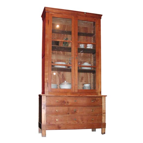 Cherry Wood Sideboards Buffets ~ Directoire cherry wood two piece buffet at stdibs