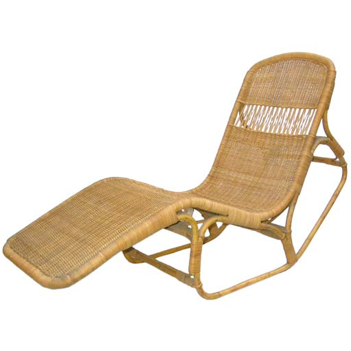 Wicker rocking lounge chair at 1stdibs - Chaise rocking chair ...