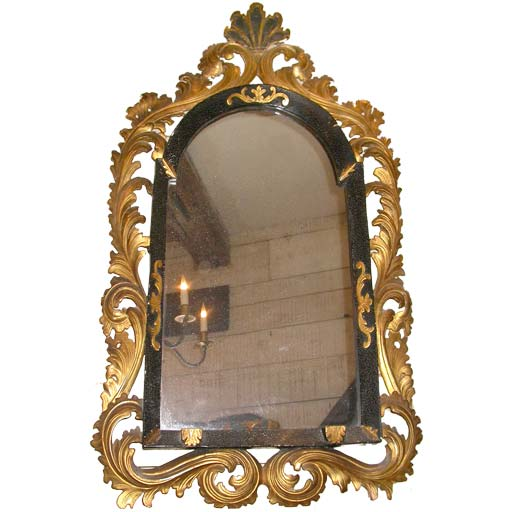 Baroque style open foliage frame mirror at 1stdibs for Mirror frame styles