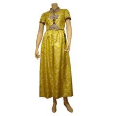 1960s Oscar de la Renta Princess Fit Gown