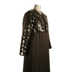 Chanel black sequined + quilted cropped evening jacket