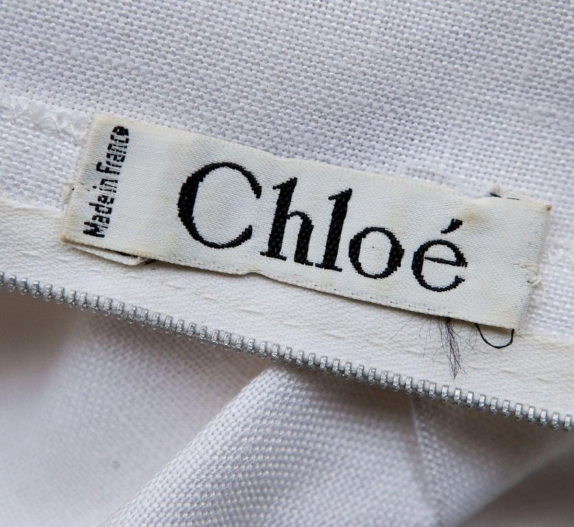 Vintage chloe dress label