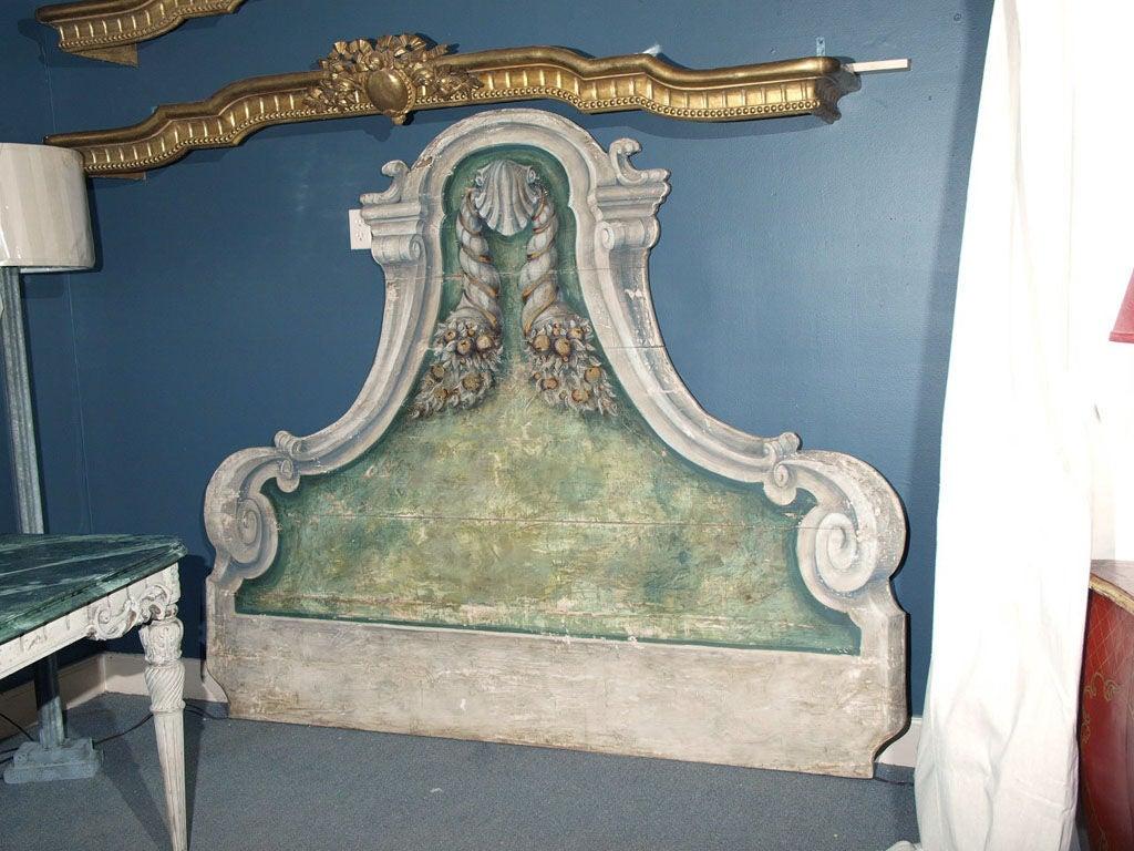 Trompe l 39 oeil venetian headboard at 1stdibs - Trompe loeil hoofd bed ...